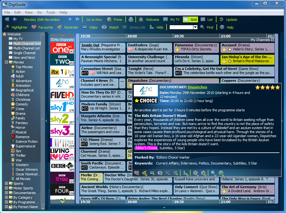 Digiguide 8.4 screenshot